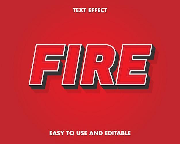 Effet de texte de feu