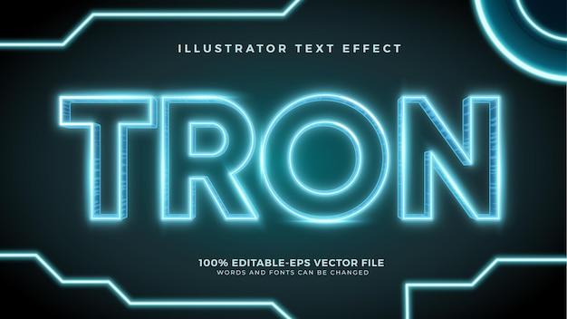 Effet de texte de film de style néon
