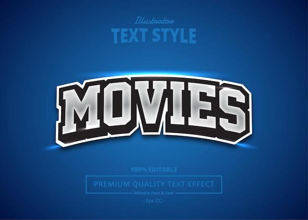 Effet de texte de film