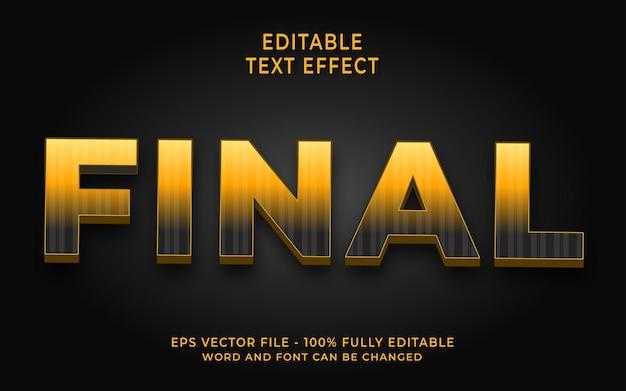 Effet de texte final créatif