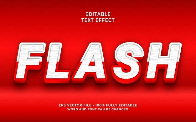 Effet de texte flash créatif