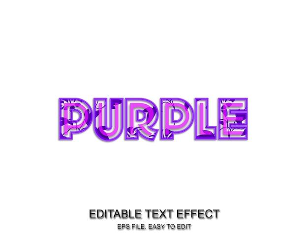 Effet de texte floral violet