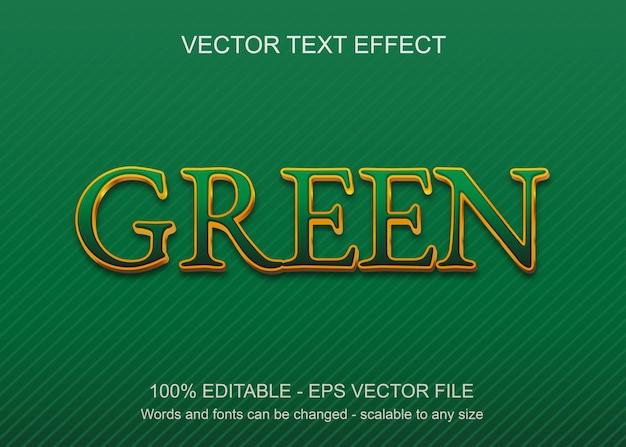 Effet de texte avec fond vert et pettern sous forme de lignes et texte de couleur or