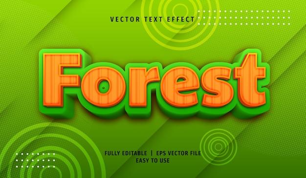 Effet de texte de forêt 3d, style de texte modifiable