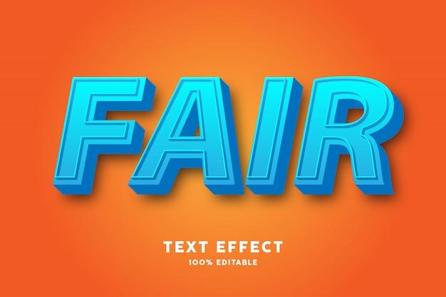 Effet de texte frais bleu 3d
