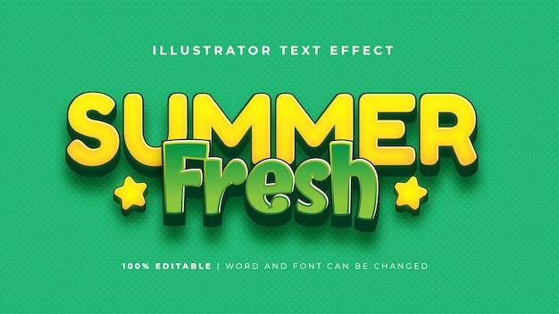 Effet de texte frais d'été