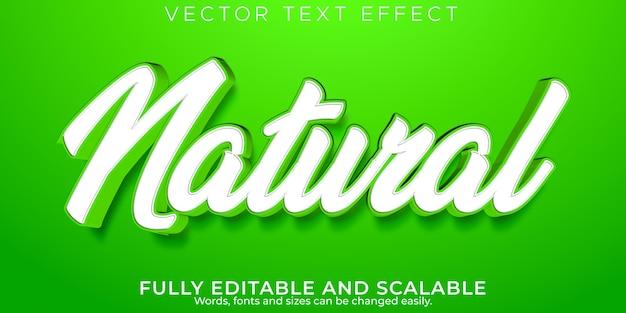 Effet de texte frais naturel, style de texte vert et organique modifiable