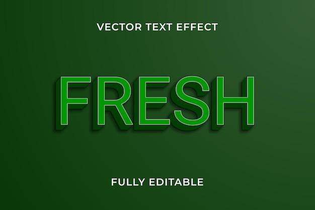 Effet de texte frais