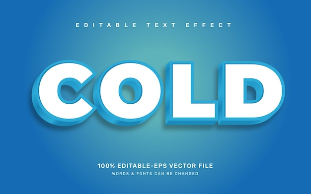 Effet de texte froid