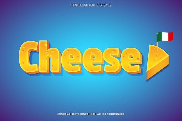 Effet de texte de fromage style de texte instantané