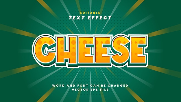 Effet de texte de fromage