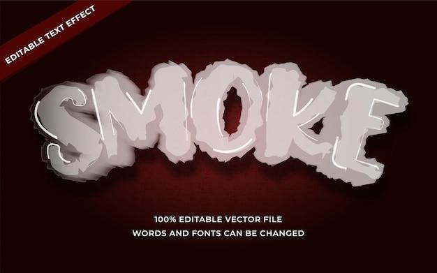 Effet de texte de fumée modifiable pour l'illustrateur