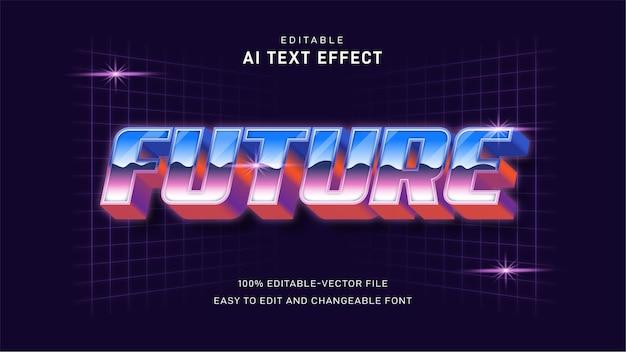 Effet De Texte Futur Rétro Vecteur Premium