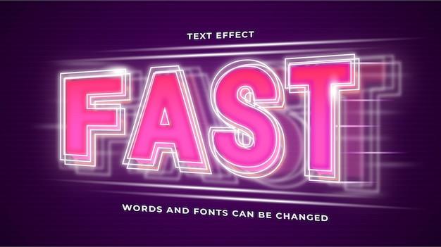 Effet de texte futuriste à vitesse rapide modifiable eps cc