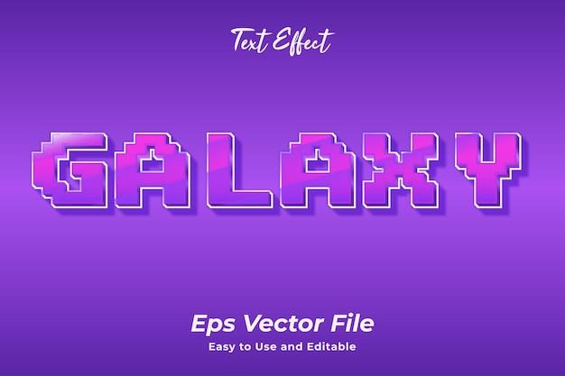 Effet de texte galaxy modifiable