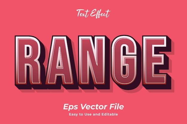 Effet de texte gamme facile à utiliser et modifiable vecteur premium