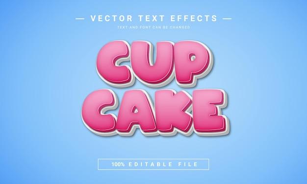 Effet de texte de gâteau de tasse