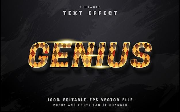 Effet de texte genius avec motifs