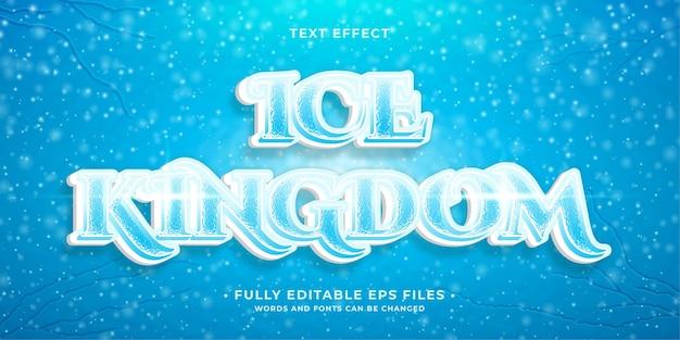 Effet de texte de glace complet 100 images vectorielles modifiables les mots et la police peuvent être modifiés