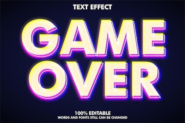 Effet de texte glitch modifiable de style de texte moderne