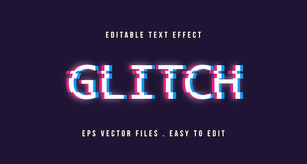 Effet de texte glitch, texte modifiable
