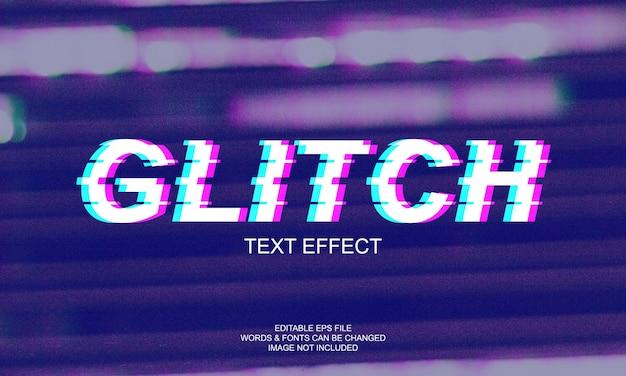 Effet de texte glitch
