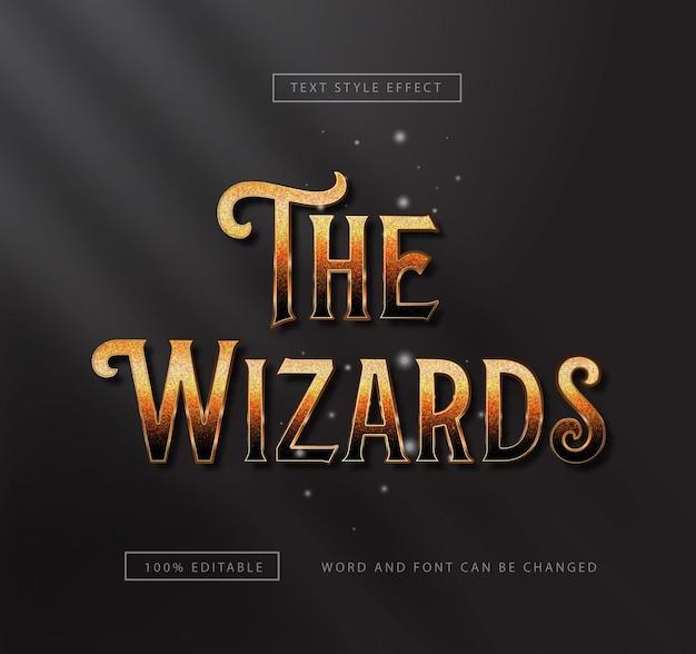 Effet de texte gold the wizard