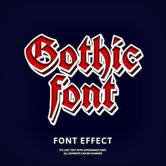 Effet de texte gothique style rétro vintage grunge