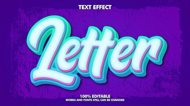 Effet de texte graffiti de lettrage moderne conception de typographie de la culture des jeunes