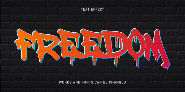 Effet de texte graffiti modifiable eps cc
