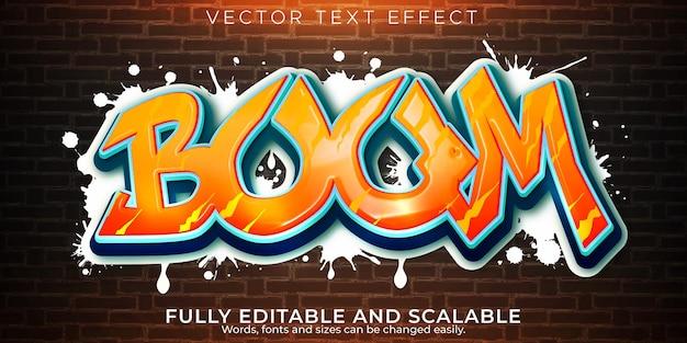 Effet De Texte Graffiti Vecteur gratuit