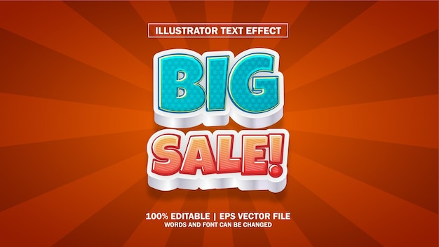 Effet de texte grande vente modifiable