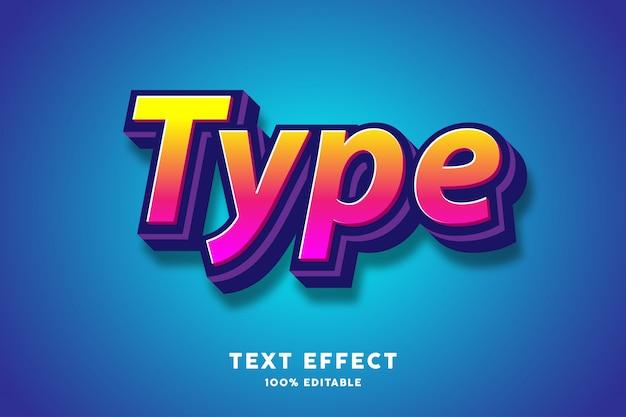 Effet de texte gras 3d fort, texte modifiable