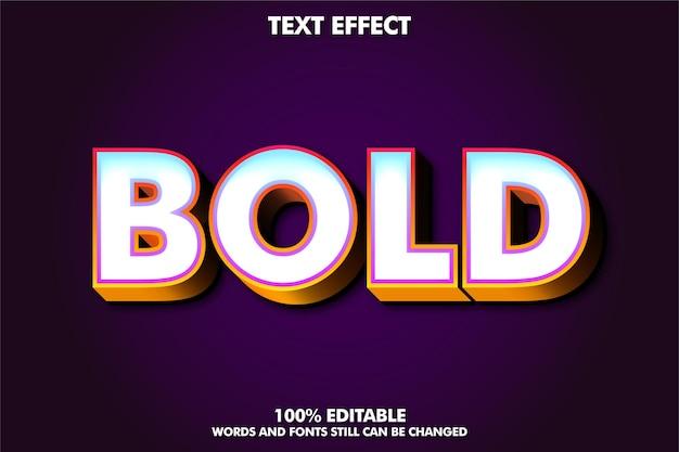 Effet de texte en gras 3d