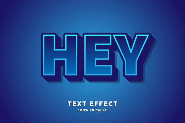 Effet de texte gras bleu foncé fort