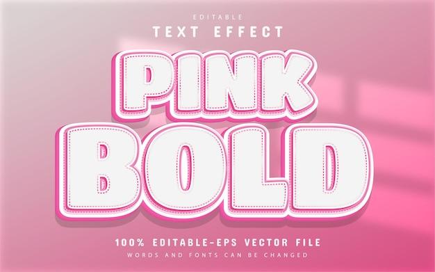 Effet de texte en gras rose modifiable