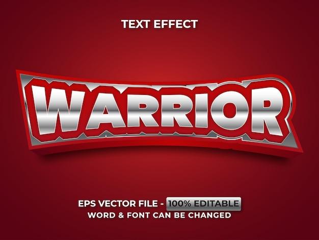 Effet de texte guerrier style argent effet de texte modifiable