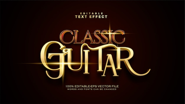 Effet de texte de guitare classique