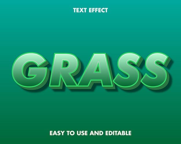 Effet de texte d'herbe. effet de police modifiable.