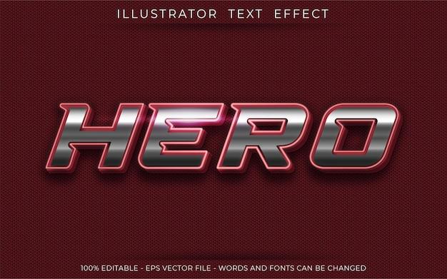 Effet de texte de héros style de texte en trois dimensions modifiable