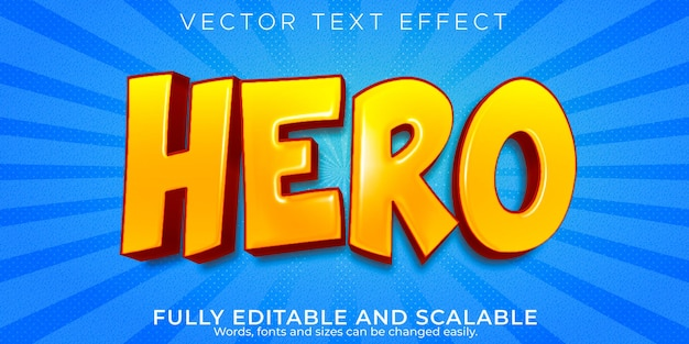Effet de texte de héros
