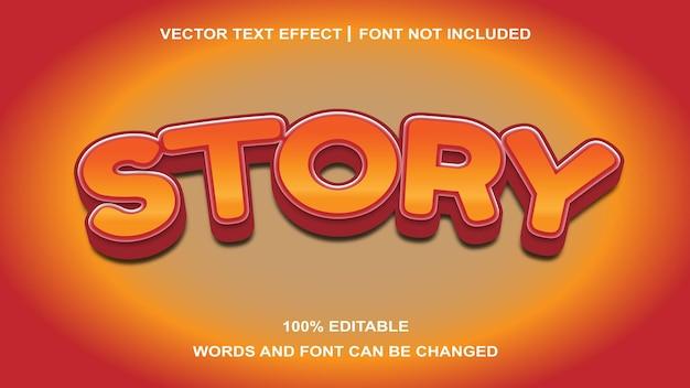 Effet de texte d'histoire créative