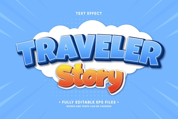 Effet de texte d'histoire de voyageur