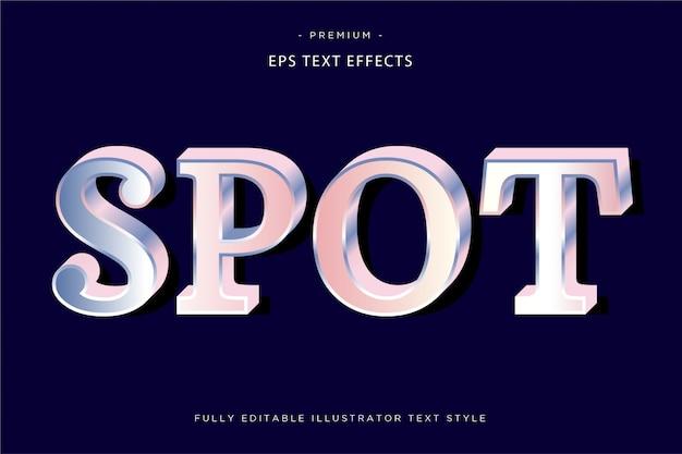 Effet de texte holographique spot style de texte spot