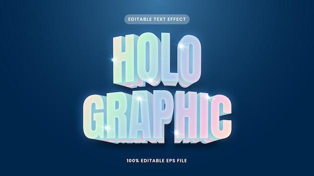 Effet de texte holographique