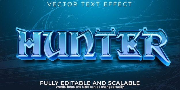Effet de texte hunter, style de texte viking et guerrier modifiable