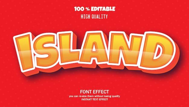 Effet de texte de l'île