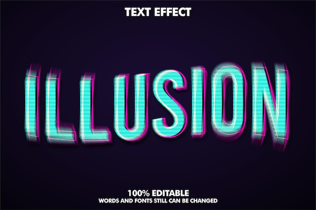 Effet de texte d'illusion de style de texte moderne