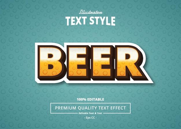 Effet de texte d'illustrateur de bière