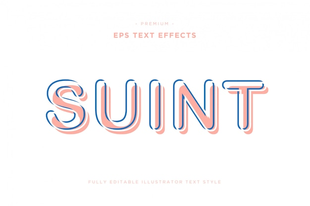 Effet de texte illustrateur futuriste